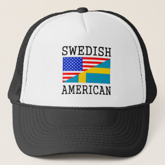 Swedish American Flag Trucker Hat