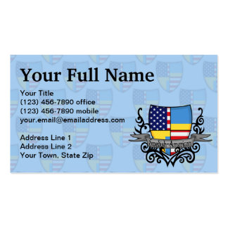 Swedish-American Shield Flag Business Card Template