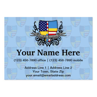 Swedish-American Shield Flag Large Business Cards (Pack Of 100)