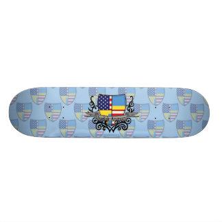 Swedish-American Shield Flag Skate Boards