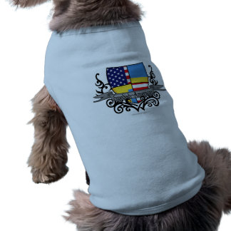 Swedish-American Shield Flag Sleeveless Dog Shirt