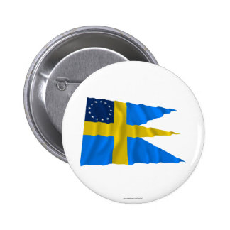 Swedish-American Waving Flag Buttons