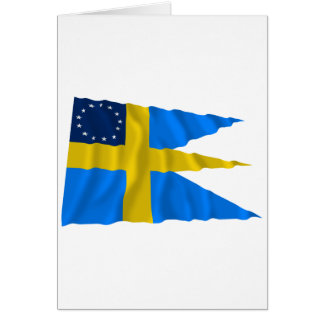Swedish-American Waving Flag Greeting Cards