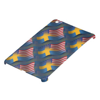 Swedish-American Waving Flag iPad Mini Cases