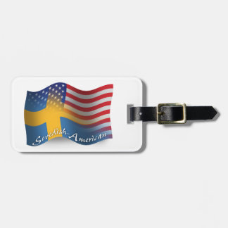 Swedish-American Waving Flag Tag For Bags