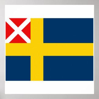 Swedish and Norwegian merchant   1818 1844, Norway Poster