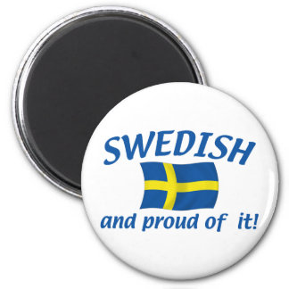 Swedish and Proud 6 Cm Round Magnet