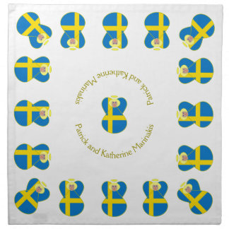 Swedish Angel Flag Blonde Hair Cloth Napkin