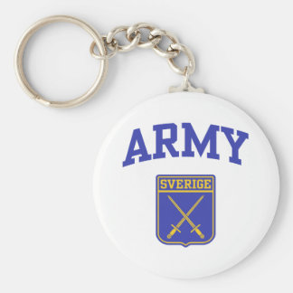 Swedish Army Basic Round Button Key Ring