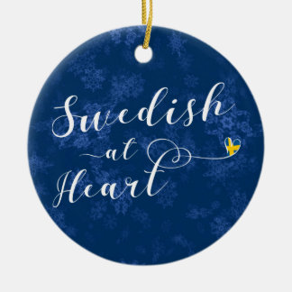Swedish At Heart Holiday Decoration, Sweden Ceramic Ornament