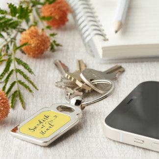 Swedish At Heart Keyring, Sweden Silver-Colored Rectangle Key Ring