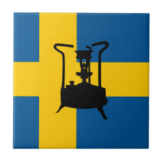 Swedish brass pressure stove small square tile