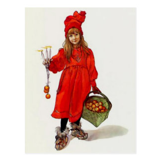 "Swedish ""Brita as Iduna"" by Carl Larsson Postcard"