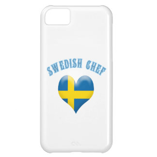 Swedish Chef Heart Shaped Flag of Sweden iPhone 5C Cases