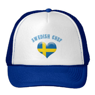 Swedish Chef Heart Shaped Flag of Sweden Hat