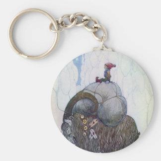 Swedish Christmas Goat - Jullbocken Keychain