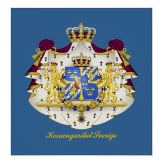 Swedish Coat of Arms Poster