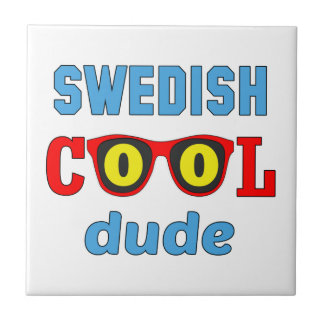 Swedish Cool Dude Small Square Tile