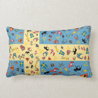Swedish culture items with flag cushions