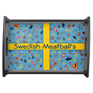 Swedish culture items with flag food trays