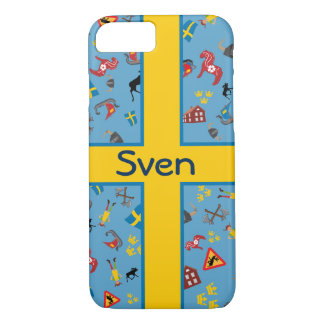 Swedish culture items with flag iPhone 7 case