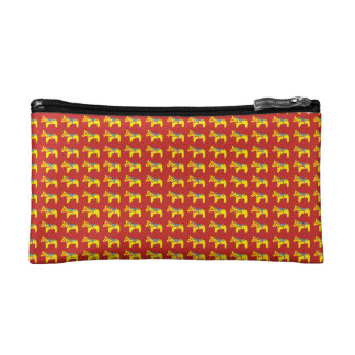 Swedish Dala Horse Cosmetic Bag