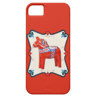 Swedish Dala Horse Folk Art Framed iPhone 5 Cases