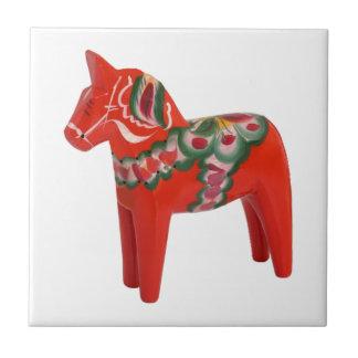 Swedish Dala Horse Folk Art Tiles