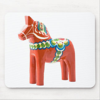 Swedish Dala horse Mouse Pad