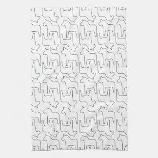 Swedish Dala Horse Print Hand Towels