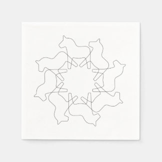 Swedish Dala Horse Snowflake Paper Napkins