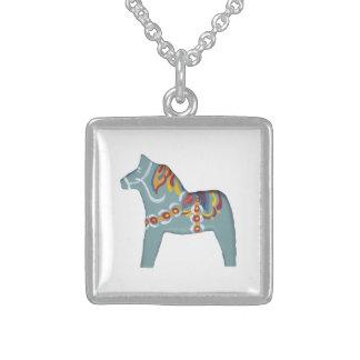 Swedish Dala Horse Sterling Silver Necklace