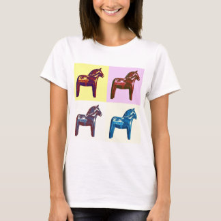 Swedish Dala Horse, Sweden Pop Art, Modern Swede T-Shirt