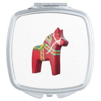 Swedish Dala Horse Travel Mirror