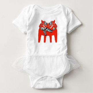 Swedish Dala Horses Apparel and Gifts Baby Bodysuit