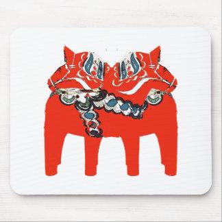 Swedish Dala Horses Apparel and Gifts Mouse Pad