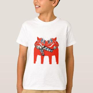 Swedish Dala Horses Apparel and Gifts T-Shirt