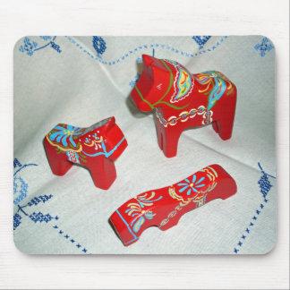 Swedish Dala Horses Mouse Pad