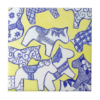 Swedish dala horses Tile