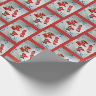 Swedish Dala Horses Wrapping Paper