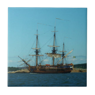 Swedish East Indiaman Small Square Tile