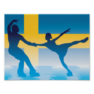 Swedish Figure Skaters Poster