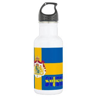 Swedish flag 532 ml water bottle