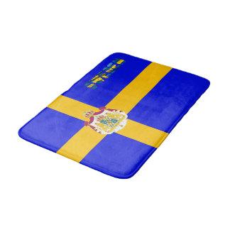 Swedish flag bath mat