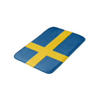 Swedish flag bath mat | Sweden bathroom rug Bath Mats
