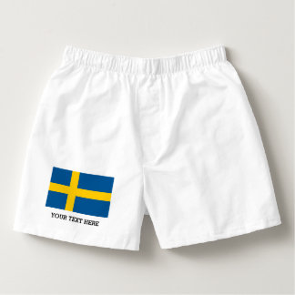 Swedish flag boxer shorts underwear for men boxers