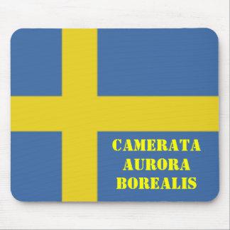 Swedish Flag, Camerata Aurora Borealis Mousepad