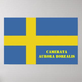 Swedish Flag Camerata Aurora Borealis Posters