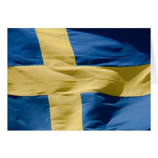 Swedish flag card