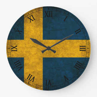 swedish flag wallclock